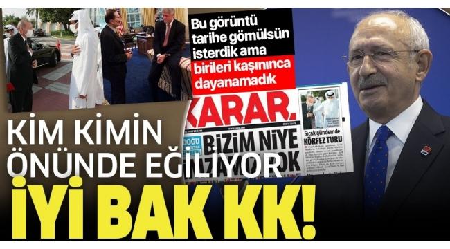"""CHPlideri Kılıçdaroğlu'nun """"ErdoğanKatarEmiri Temim'in önünde eğildi"""" yalanına AK Parti'den görüntülü yanıt!."""