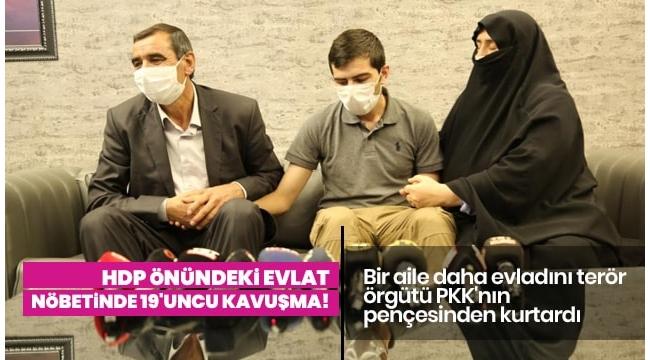 HDP önündeki evlat nöbetinde 19'uncu kavuşma; 6 yıl sonra buluştular.