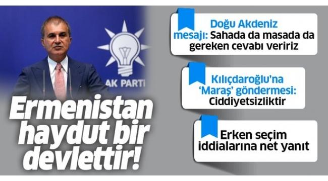 Son dakika:AK PartiSözcüsüÖmer Çelik'tenMYKsonrası flaş açıklamalar.