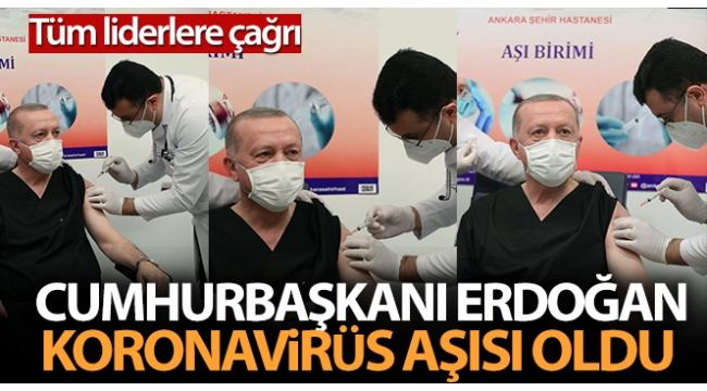 Son dakika: Başkan Erdoğan Kovid-19 aşısı oldu ve Telegram'dan mesaj paylaştı..