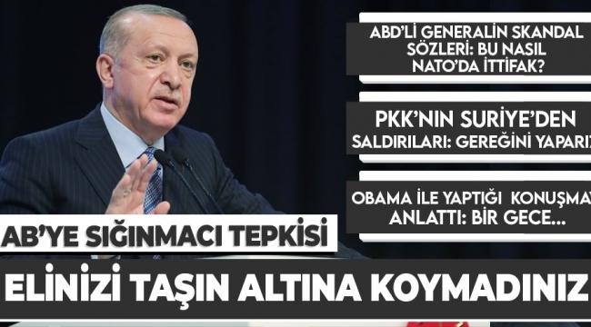 Başkan Recep Tayyip Erdoğan'dan AB'ye mülteci eleştirisi! Avrupa'ya sığınan 10 binlerce çocuğun nerede olduğu bilinmiyor.