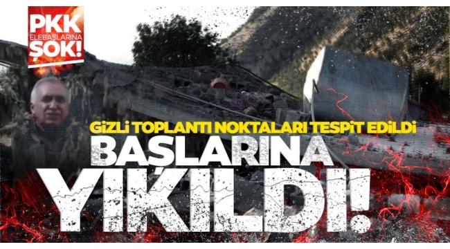 Son dakika haberi: PKK elebaşlarına şok! Gizli toplantı merkezi başlarına yıkıldı