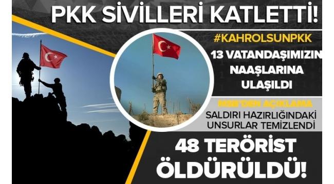 Son dakika: MehmetçikGara'da destan yazdı!Milli SavunmaBakanıHulusi Akar: 48 terörist ölü, 2 terörist sağ ele geçirildi
