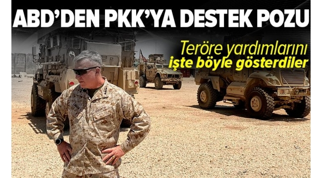 ABD'den PKK'ya destek pozu! Teröre yardımları böyle görüntülendi