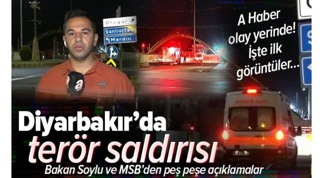 Son dakika: Diyarbakır'da terör saldırısı.