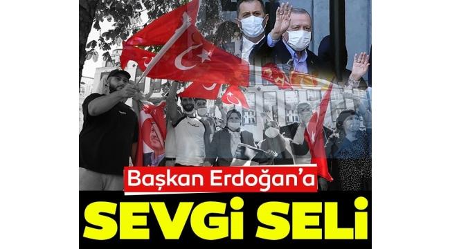 Başkan Recep Tayyip Erdoğan NATO Zirvesi için Brüksel'de! Vatandaşlardan Sevgi seli