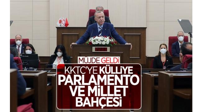 Son dakika: Başkan Erdoğan KKTC Meclisi'nde müjdeyi açıkladı!