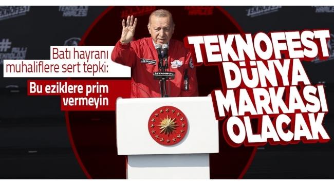 """Başkan Erdoğan'danTEKNOFEST'te gençlere mesaj! """"2053 ve 2071 Türkiye'sinin mimarları olacaklar"""""""